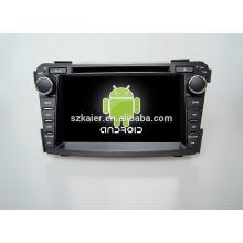 Cuatro núcleos! DVD de coche con espejo enlace / DVR / TPMS / OBD2 para pantalla táctil de 7 pulgadas de cuatro núcleos 4.4 sistema Android Hyundai I40