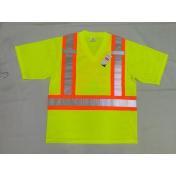high visibility short sleeve conforming to EN20471