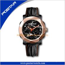 Vintage edição limitada natural mármore relógio de pulso relógio de discagem