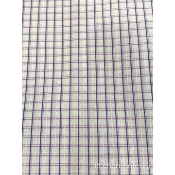 T / C (20% Cotton80% Polyester) Dobby Plaid Fabric