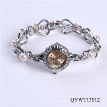 Nuevos productos moda chicas perla reloj dama