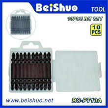 10PC Cromo Bits de chave de fenda cabeça dupla