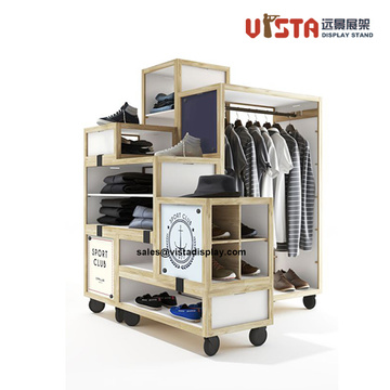 Garment+Retail+Store+wooden+Clothes+Display+Stand