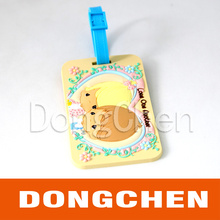Custom Embossed Logo of Soft Silicone Rubber Luggage Tag