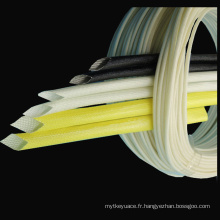 Isolez les tubes de protecteur de fil enduits de silicone de manchon de fibre de verre