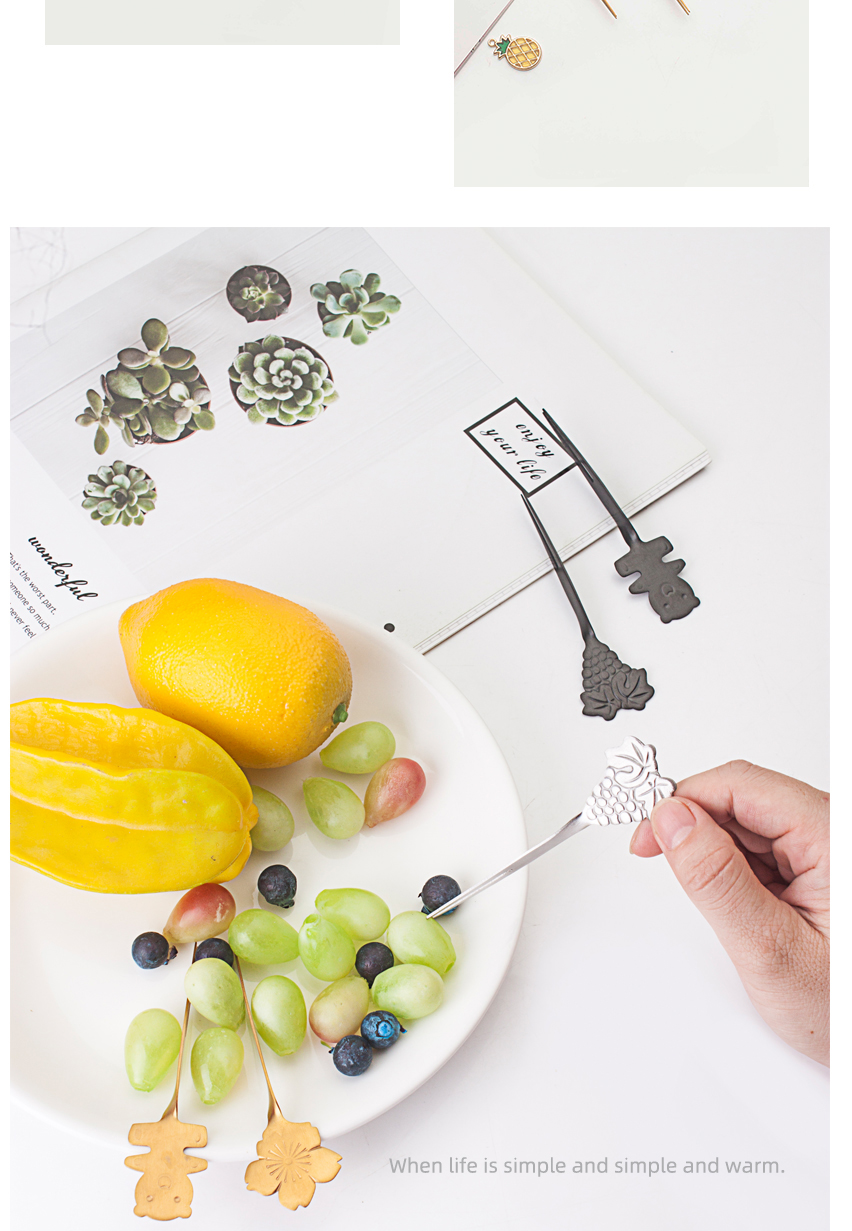 Reverse Design Fruit Fork