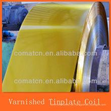 Golden lackierte und beschichtete elektrische Weißblech-Spule
