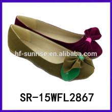 Zapatos planos de la mujer 2015 zapatos de las mujeres de China de la venta al por mayor de la fábrica del zapato de China