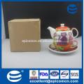 Оптовый производитель шаржа картины керамический фарфор один человек чай набор в одном