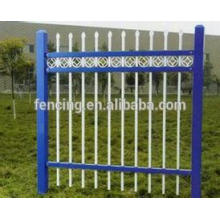 Colorful W or D metal steel palisade fence