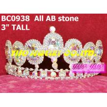 Ab coroas de jóias de cristal de pedra e tiaras