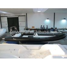 Hypalon barco RIB730 rígido casco do barco com tubo de hypalon