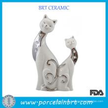 Decoración de la boda de la decoración de la forma del gato de la promoción para Giftware
