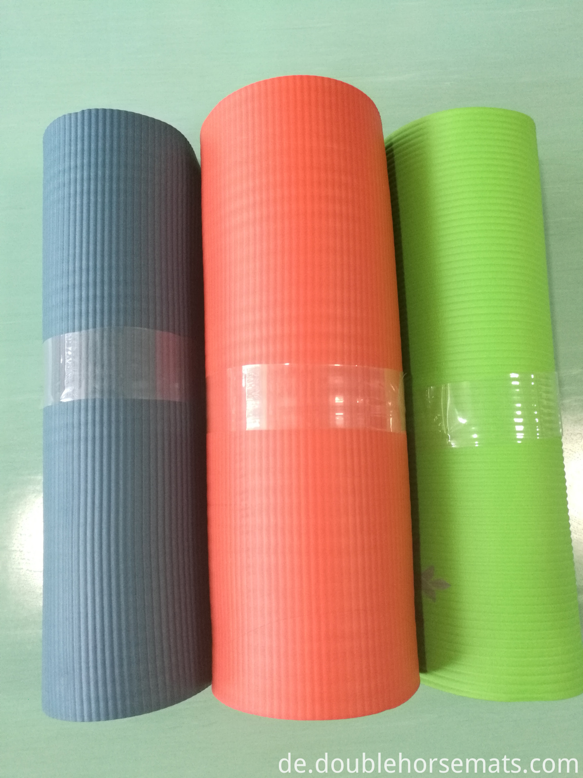 NBR horizontal stripes yoga mat