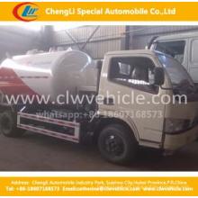 Dongfeng 4 * 2 LPG Bobtail Trucks zum Nachfüllen verwenden 5.5cbm LPG Nachfüllen Bobtail Trucks