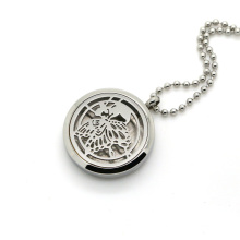 Stainless Steel Butterfly Hollow Locket Perfume Diffuser Necklace