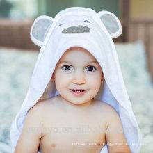 Serviette de bain pour bébé, 100% coton doux animal bébé à capuche servietteBlanket Soft organique antibactérien, oreilles d'ours hypoallergénique