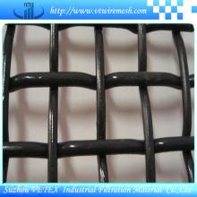 Schwarzer Stahldraht quetschverbundener Maschendraht-Quadrat-Masche