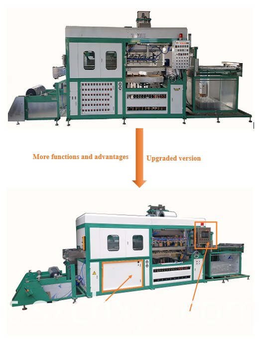 Automatic plastic tray food container forming machine