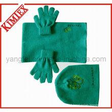 100% Acrílico Moda Promoção Hat Glove Scarf Knit Set
