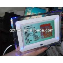 Mini uso casero 2 en 1 pantalla del LCD 7 pulgadas piel de la pantalla táctil y analizador del pelo prueba la máquina de la belleza