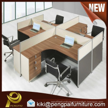 Panel Furniture, 4 person Office Cubicle
