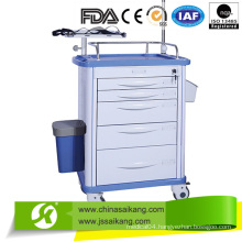 ABS Emergency Drugs Trolley with Casters 2016 New Model