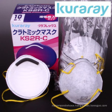 Disposable high grade active carbon anti PM 2.5 dust mask for molding by Kuraray. Made in Japan (smoke protection mask)