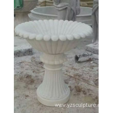White Marble Flower Vase For Garden