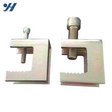 Sela galvanizada resistente à corrosão da braçadeira do trilho 100Mm para a tubulação do PVC