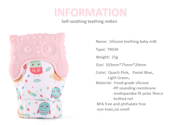 silicone baby teething mitten
