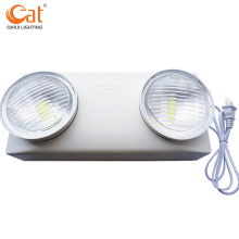 LED emergency light with adjustable twin heads