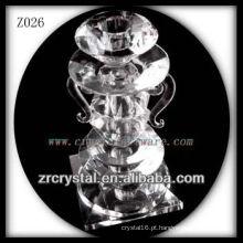 Suporte de vela de cristal popular Z026