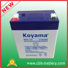 12V 4ah Lead Acid AGM Battery for Security, Scooter