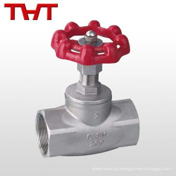 válvula de globo de extremidade de parafuso de aço inoxidável pn16