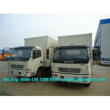 Euro II или Euro IV DFAC 6-7T фургон-фургон / мини-фургон / грузовой фургон / грузовик-фургон с гидравлическим задним бортом