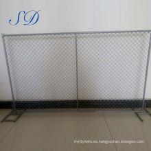 Fábrica de valla temporal de acero barato para niños de carretera acero barato