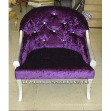 Purple velvet Arm chair factory sales XY2500