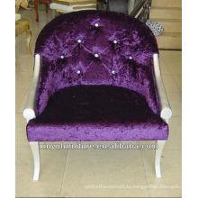 Фиолетовый бархат кресло фабрика продажа XY2500