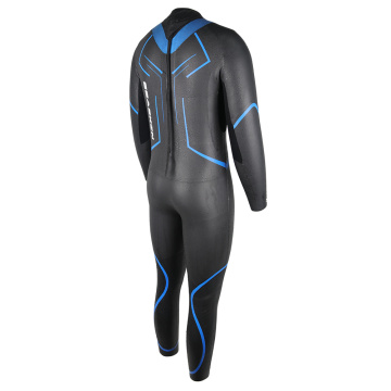 Seaskin Mens Triathlon Back Zipper Wetsuits