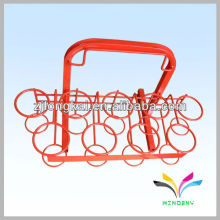 Hot-sell high quality removable red two-sided metal display beverage cooler shelf