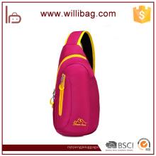 Lazer esporte peito saco Nylon Material peito pacote Messenger Bag