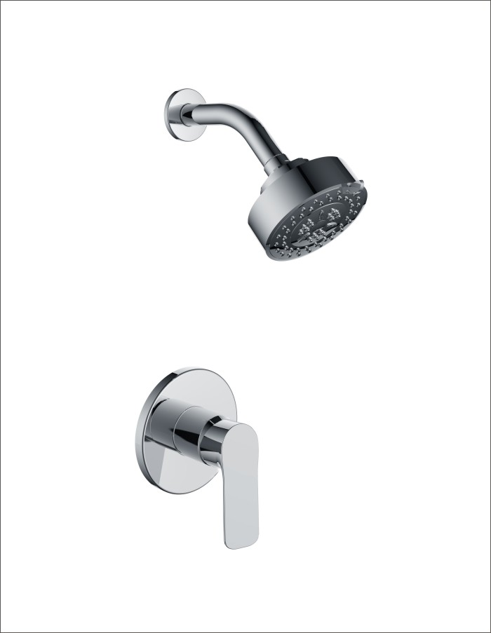 Round in-wall Concealed Single Function Shower Mixer