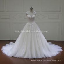 XFM005 cap sleeves lace aliexpress wedding dresses 2017 bridal