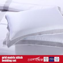 Grid Matrix Stitch Bedding Set Classical Design