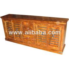 Metal Fitted Sheesham Sideboard