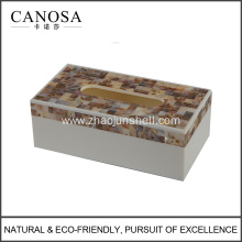 Freshwater Shell Rectangle Tissue Box Cover