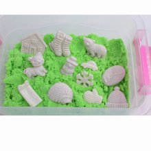 New Style DIY Therapy Magic Sand Toys with 12 PCS White Snow Pieces