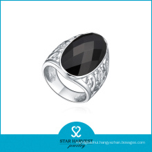 Onyx 925 Silver Jewelry Ring for Free Sample (R-0210)