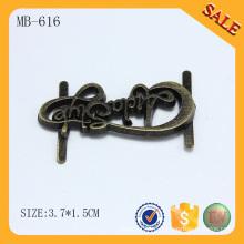MB616 Пользовательские буквы логотип антикварные металлические пластины